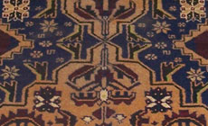 Tribal Afghan Prayer Rug